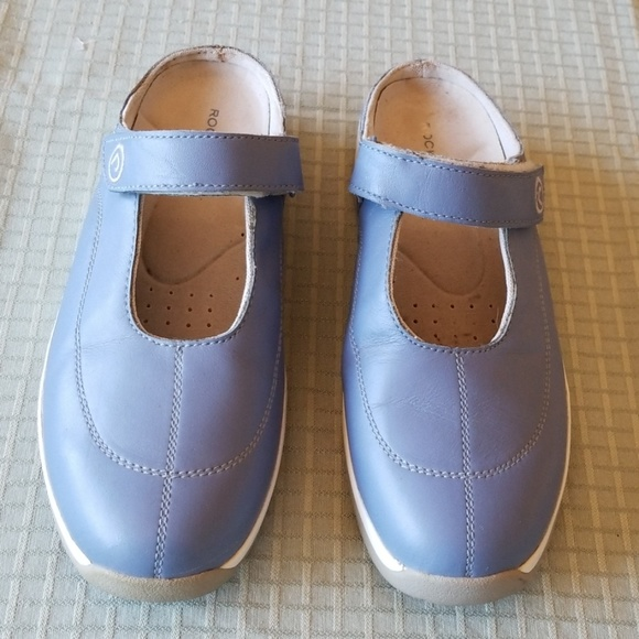 Rockport Shoes - Rockport Mules with Velcro Strap in Blue, S: 9.5